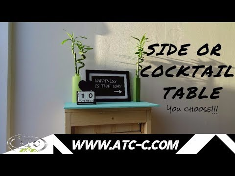 Create an easy side or cocktail table // HOW TO // DIY