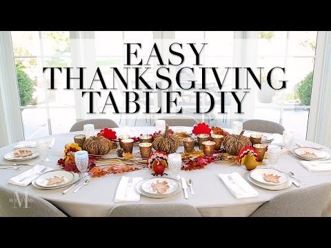 An Easy Thanksgiving Do-It-Yourself Project For Your Dinner Table