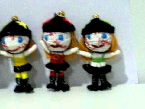 Roller derby string doll keychain voodoo doll WWW.POKEITVOODOO.COM