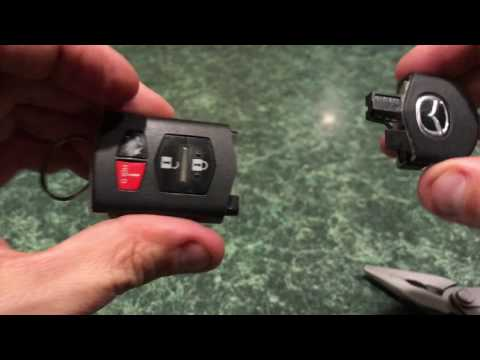 How to Change a Battery in a Mazda 6, Mazda 3 Key Remote