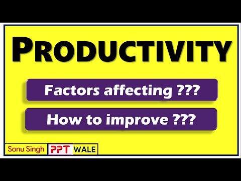 PRODUCTIVITY | Meaning | Factors affecting | Ways to improve productivity | BBA/MBA | ppt
