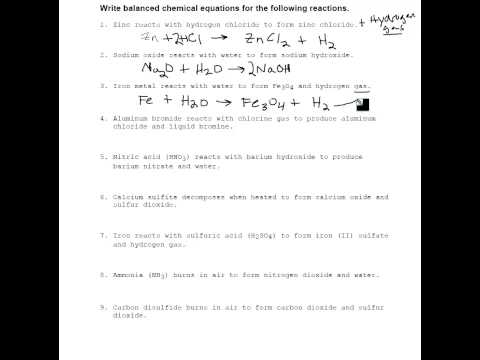 Writing Chemical Word Equations