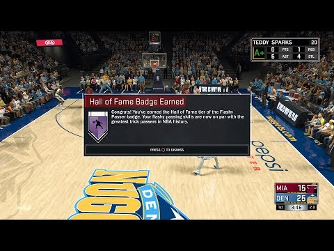 How to get Hall of Fame Flashy Passer Badge in 2k17!