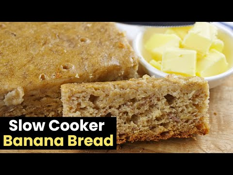 Delicious & Moist Slow Cooker Banana Bread