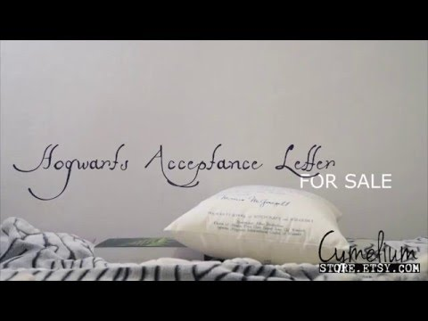 Harry Potter pillow - Hogwarts Acceptance Letter handmade