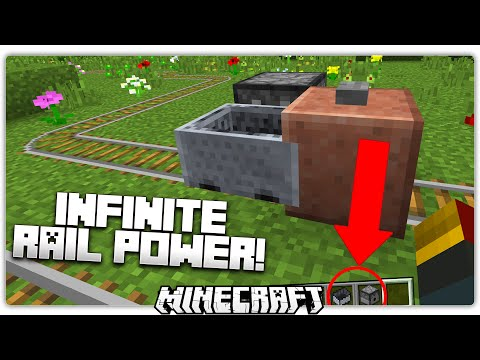 Minecraft 1.10 Trick: Use Simple Items for Infinite Minecart Power!