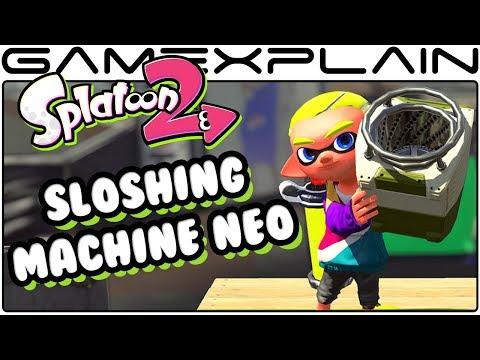 Splatoon 2 - NEW Sloshing Machine Neo DLC Weapon Tour!
