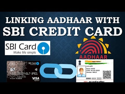 Link SBI credit card with adhar number