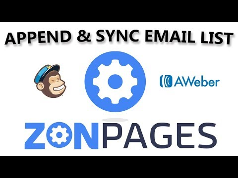 ZonPages - How To Append and Sync Your Email List to Mailchimp, aWeber
