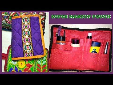 Super makeup pouch make at home Diy|how to make makeup pouch like amazon,flipkart,snapdeal,myntra|