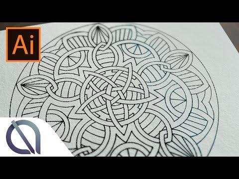 Real Time Creating Of Mandala Asymmetric Repeating Tutorial Illustrat
