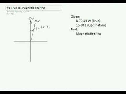 Survey Point #4 True to Magnetic Bearings