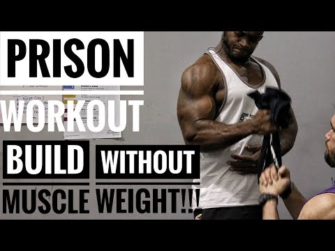 PRISON WORKOUT | GET A WIDE BACK & BIG BICEPS WITHOUT WEIGHTS | Episode 2