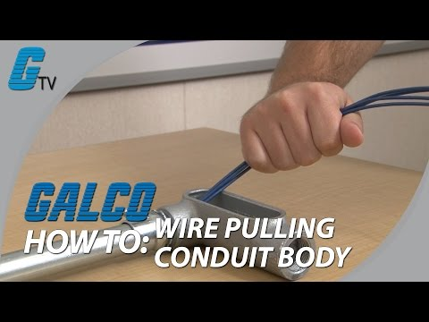 How to Pull Wire Through a Conduit Outlet Body