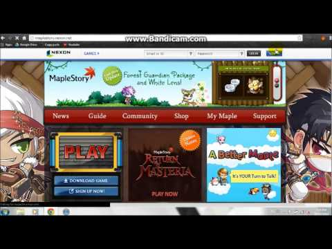 How to make a maplestory account