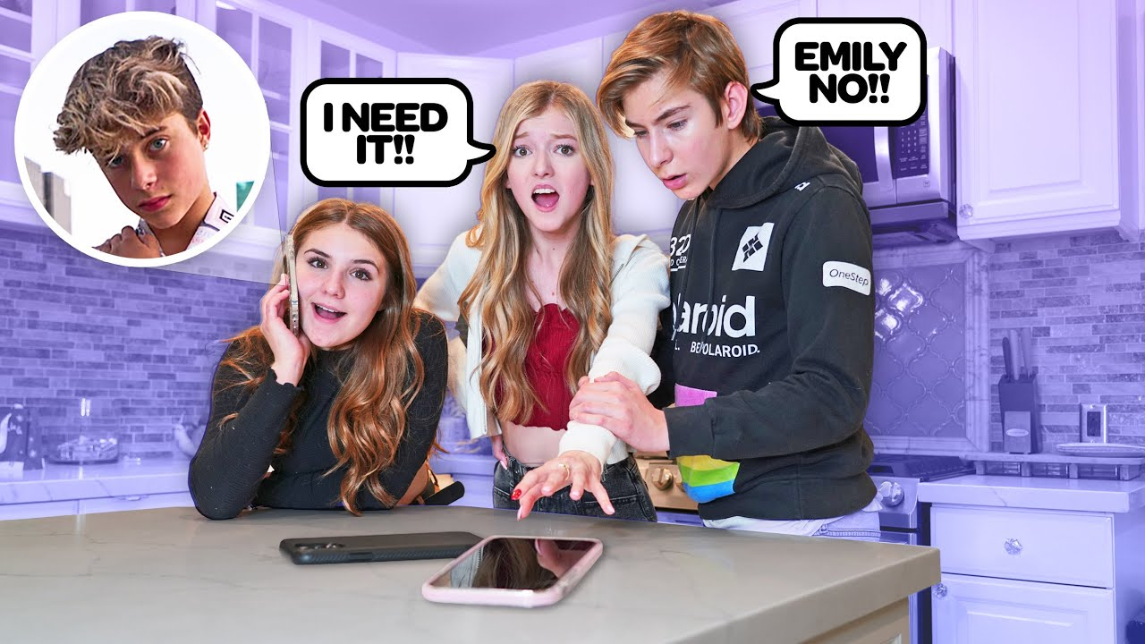 First To TOUCH Their Phone Has To Call Their EX... **INTENSE CHALLENGE** 📱|Emily Dobson