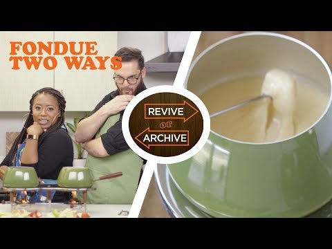 Fondue for Two! Episode 7: Beer Cheese vs. Fruit Sauce Fondue | Allrecipes: Revive or Archive