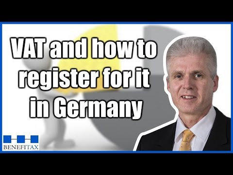 Explainer video on VAT and how to register for it in Germany