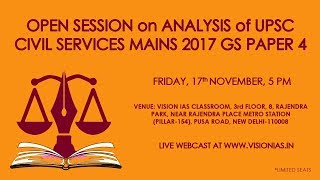 Analysis of UPSC Civil Services Mains 2017 GS Paper IV