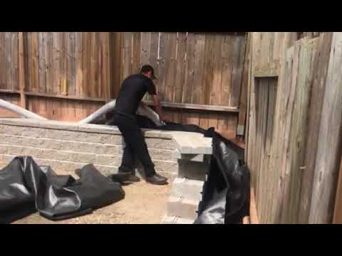 How to install Drainage behind retaining wall