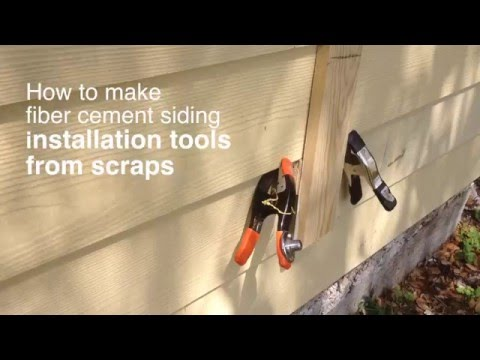 How to make fiber cement siding installation tools from scraps