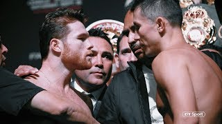 Canelo v GGG 2 face-offs: Bad blood reaches new levels as fighters clash on stage
