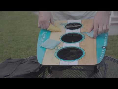 EastPoint® Sports 3 Hole Bean Bag Toss - Assembly Video