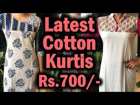 Latest Fashion Cotton Kurti Designs | Cotton Daily Wear Kurti Collection With Price