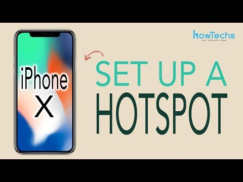 iPhone X - How to set up a Wifi Hotspot