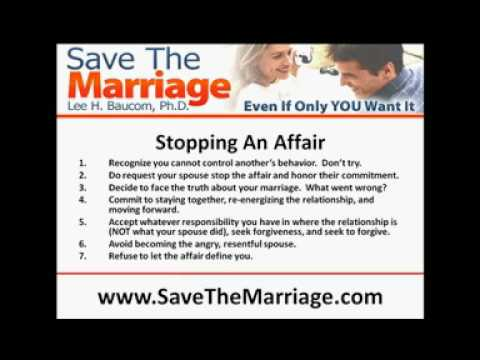 Stop An Affair & Save Your Marriage!