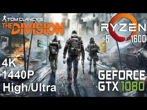 Tom Clancy's The Division 4K/1440P Test On Gigabyte GTX 1080 + Ryzen 5 1600, High/Ultra Settings