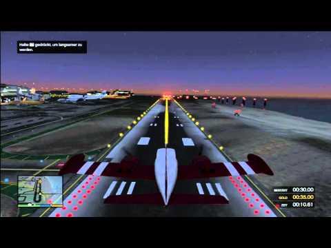 GTA 5 - Flight School - 2.Runway Landing Gold Medal