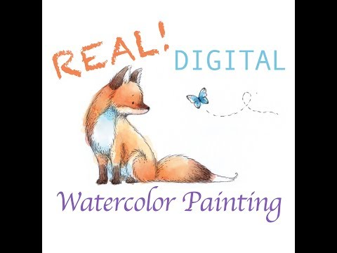 Real Digital Watercolor Painting in Photoshop - The Most SIMPLE Tutorial for Artists!