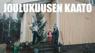 Joulukuusen kaato ja kuistin tuunaus | MAATILAVLOGI | FINNISH HOMESTEAD