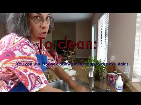 Washing dishes with Norwex Sept2015