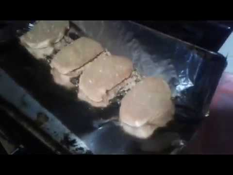 Cooking butterfly pork chops with shake and bake