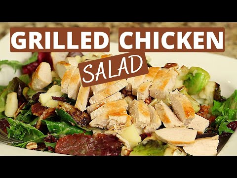 Easy Grilled Chicken Salad With Apple Vinaigrette | Rockin Robin Cooks