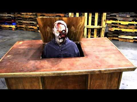 SFRN608 Deskolator Animated Haunted House Prop Demo