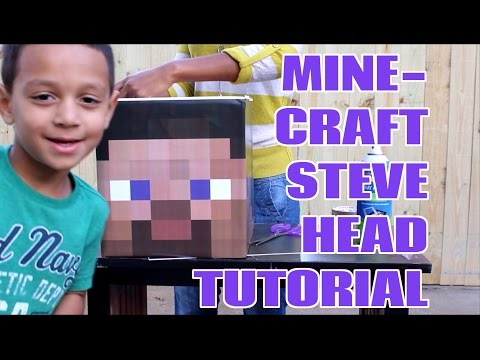 DIY | HOW TO MAKE A MINECRAFT STEVE HEAD CRAFT FOR A HALLOWEEN COSTUME