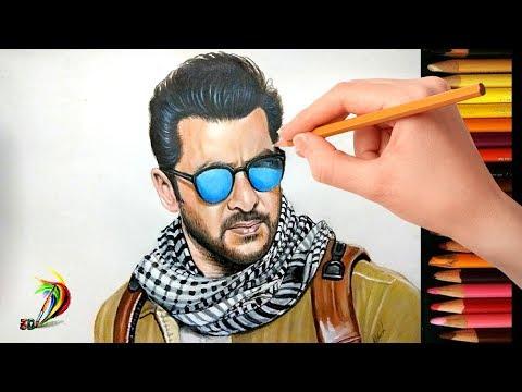 Drawing Salman Khan | Tiger Zinda Hai | Realistic Drawing Of Salman Khan Look In Tiger Zinda Hai