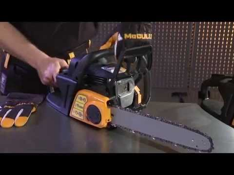 How to - Adjust the chain tension on your chainsaw.