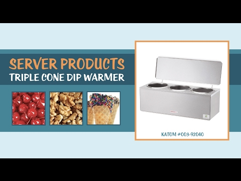Server Products 92040 Triple Cone Dip Warmer