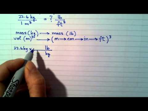 Ch 1 Example converting a conversion factor and using cubic units