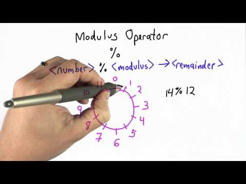 Modulus Operator - CS101 - Udacity