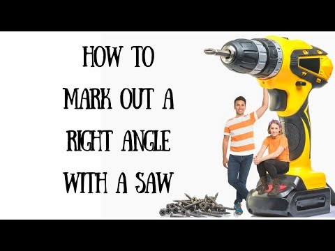 How to mark out a perfect right angle  with a hand saw