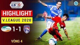 Highlight 4K   Viettel vs Than Quảng Ninh   V.League 2020   Đại Tiệc Tấn Công, Siêu Phẩm Đá Phạt