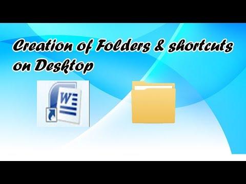 Creation of folder & shortcut icon on desktop
