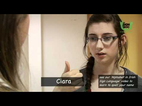 Basic Phrases in Irish Sign Language 02