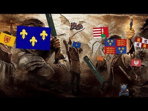 EU4: England & France when 'Surrender Maine' happens.
