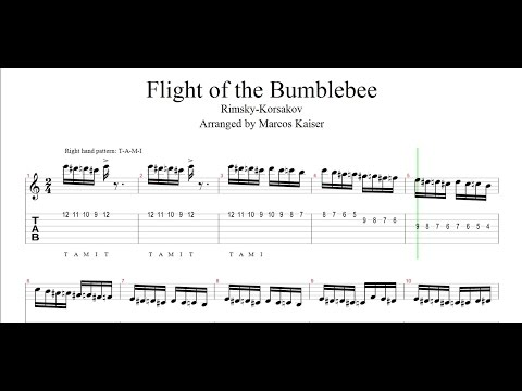 Flight of the Bumblebee (Guitar Tab) - Fingerstyle Guitar